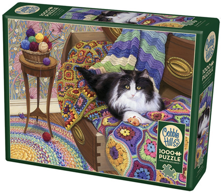 Cobble Hill 1000 Piece Jigsaw Puzzle: Comfy Cat
