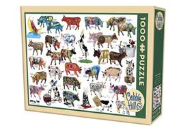 Cobble Hill 1000 Piece Jigsaw Puzzle Cow Parade