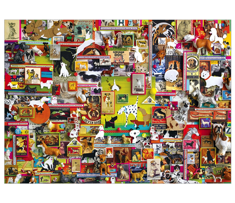 Cobble Hill 1000 piece jigsaw puzzle Dogtown buy at www.puzzlesnz.co.nz