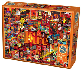 Cobble Hill 1000 Piece Jigsaw Puzzle:  Fire