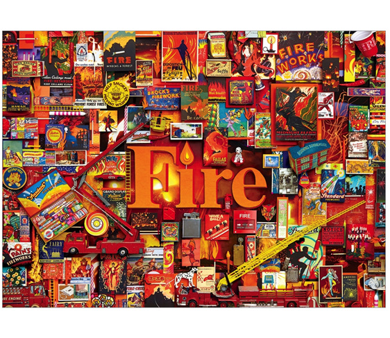Cobble Hill 1000 piece jigsaw puzzle Fire buy at www.puzzlesnz.co.nz