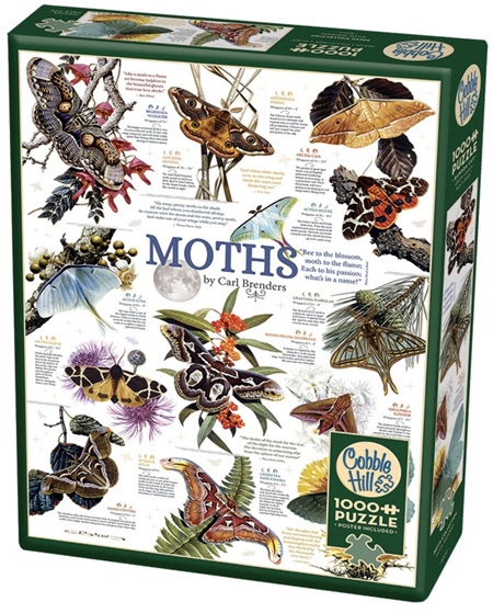 Cobble Hill 1000 Piece Jigsaw Puzzle: Moth Collection
