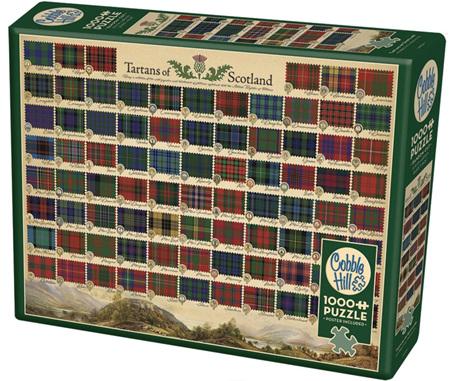 Cobble Hill 1000 Piece Jigsaw Puzzle: Tartans Of Scotland