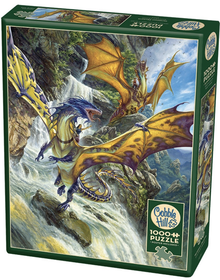 Cobble Hill 1000 Piece Jigsaw Puzzle: Waterfall Dragons