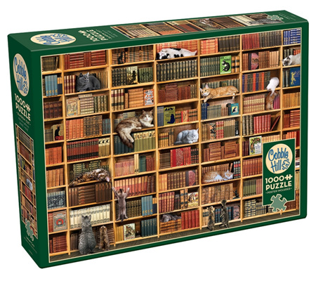 Cobble Hill 1000 Pieces Jigsaw Puzzle: Cat Library