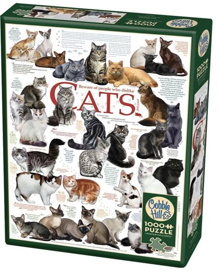 Cobble Hill 1000 Pieces Jigsaw Puzzle: Cat Quotes