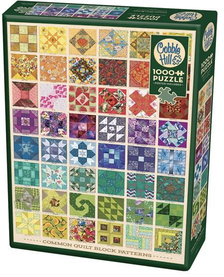 Cobble Hill 1000 Pieces Jigsaw Puzzle: Common Quilt Blocks