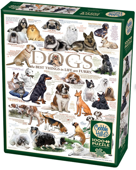 Cobble Hill 1000 Pieces Jigsaw Puzzle: Dog Quotes