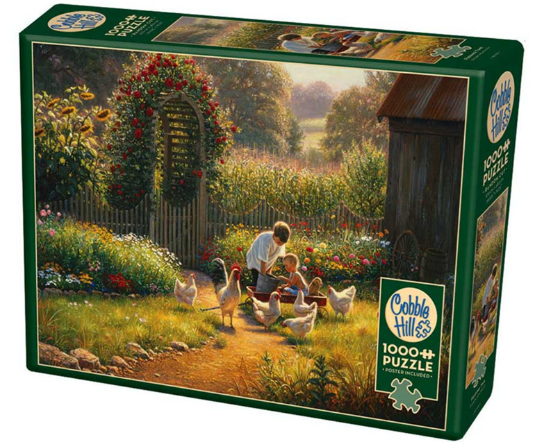 Cobble Hill 1000 Pieces Jigsaw Puzzle: Feeding Time buy at www.puzzlesnz.co.nz