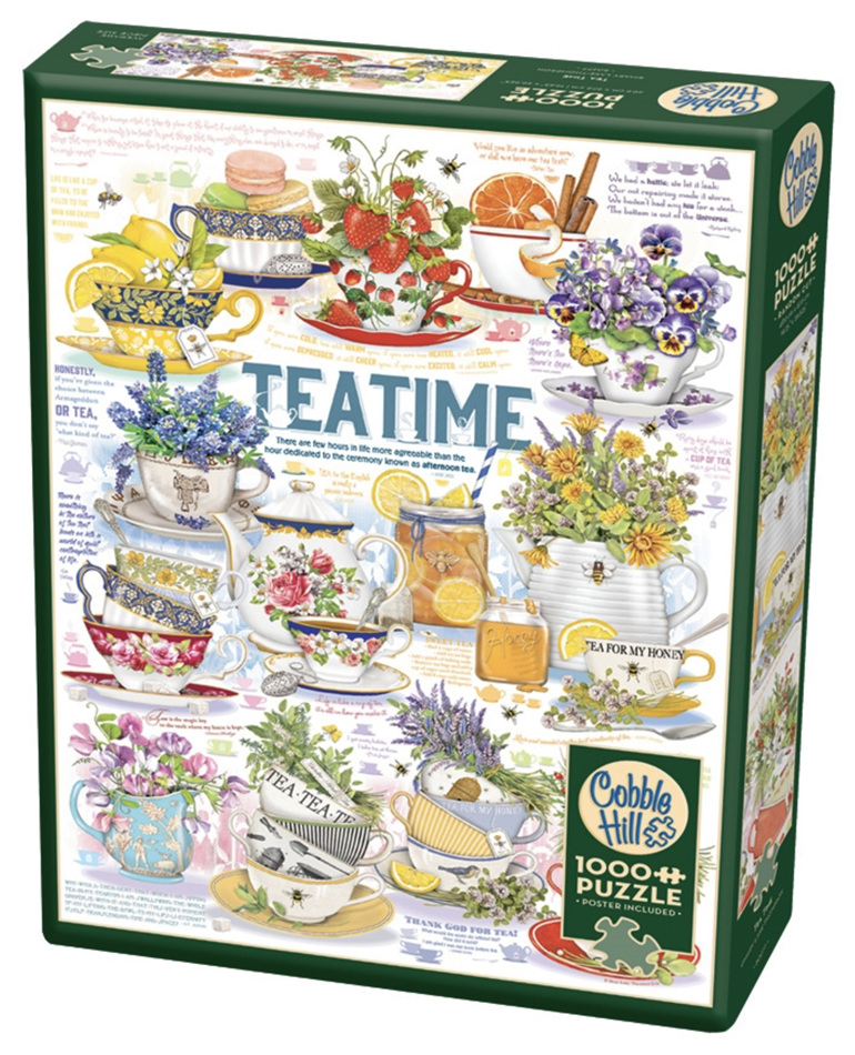 Cobble Hill 1000 Pieces Jigsaw Puzzle: Teatime buy at www.puzzlesnz.co.nz