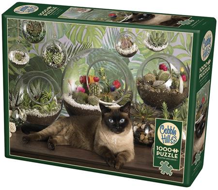 Cobble Hill 1000 Pieces Jigsaw Puzzle: Terrarium Cat