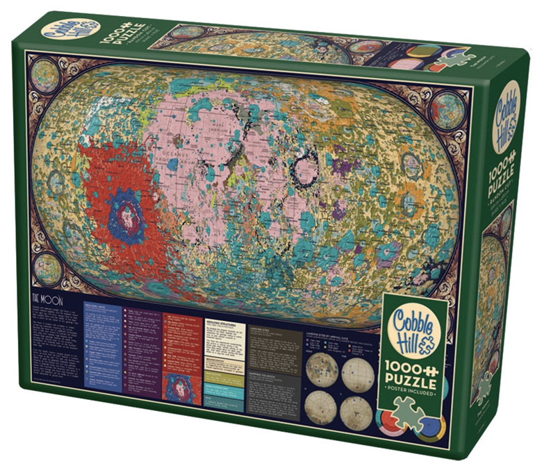 Cobble Hill 1000 Pieces Jigsaw Puzzle: The Moon buy at www.puzzlesnz.co.nz