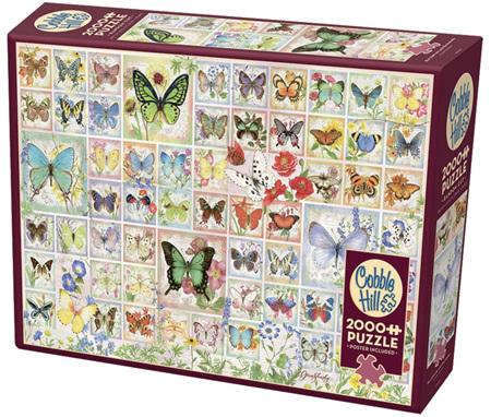 Cobble Hill 2000 Piece Jigsaw Puzzle: Butterflies & Blossoms