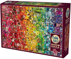 Cobble Hill 2000 Piece Jigsaw Puzzle : Rainbow