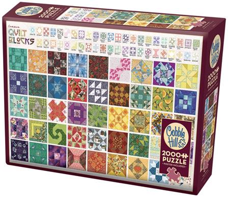 Cobble Hill 2000 Pieces Jigsaw Puzzle: Quilt Blocks