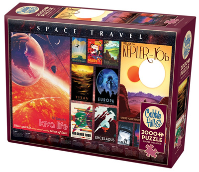 Cobble Hill 2000 Pieces Jigsaw Puzzle: Space Travel Posters