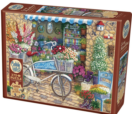 Cobble Hill 275 Easy Handling  Large Pieces Jigsaw Puzzle: Pedals 'N' Petals