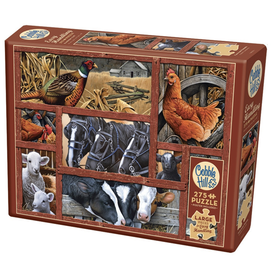 Cobble Hill 275 Easy Handling Pce Puzzle Farmyard Friends at www.puzzlesnz.co.nz