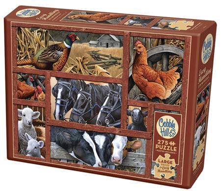 Cobble Hill 275 Easy Handling Pieces Jigsaw Puzzle: Farmyard Friends