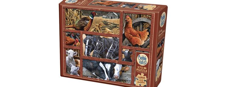 Cobble Hill 275 Easy Handling Pieces Jigsaw Puzzle: Farmyard Friends  $19.95