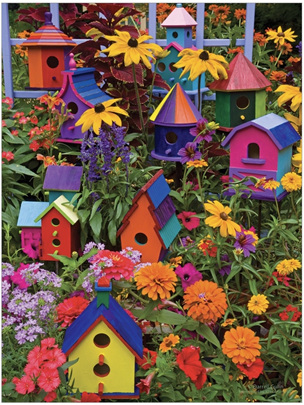 Cobblehill Birdhouses Easy Handling Puzzle