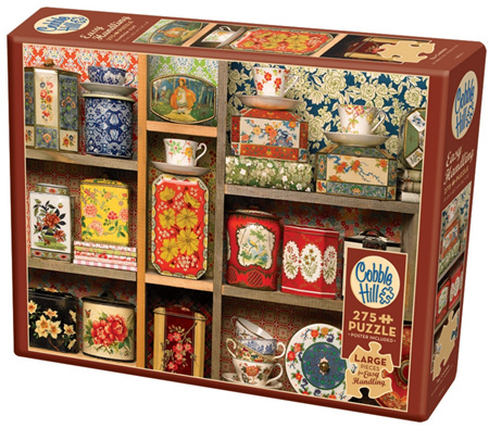 Cobble Hill 275 Larger Sized Easy Handling  Pieces Jigsaw Puzzle: Tea Caddies