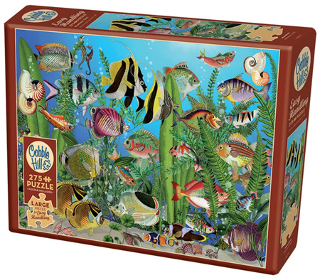 Cobble Hill 275 Larger Sized Easy Handling  Pieces Jigsaw Puzzle: Aquarium
