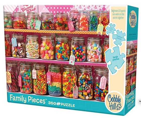Cobble Hill 350 Pieces  Family Jigsaw Puzzle: Candy Counter