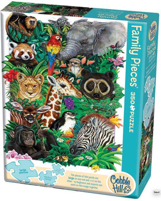 Cobble Hill 350 Pieces  Family Jigsaw Puzzle: Safari Babies