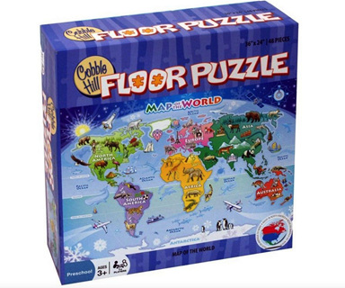 Cobble Hill 48 Piece Floor Jigsaw Puzzle: Map Of The World
