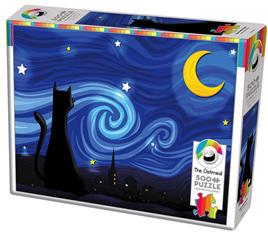Cobble Hill 500 Piece Jigsaw Puzzle: Mrowwy Night