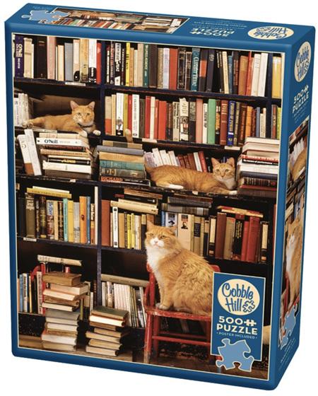 Cobble Hill 500 Pieces Jigsaw Puzzle: Gotham Bookstore Cats