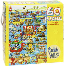 Cobble Hill Boat Race 60 Piece Jigsaw Puzzle