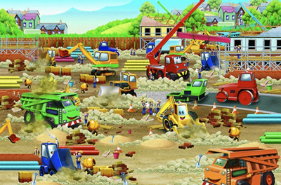 Cobble Hill Construction Zone 36 Piece Floor Puzzle