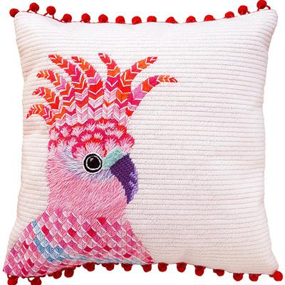 Pink Cockatoo needlepoint kit
