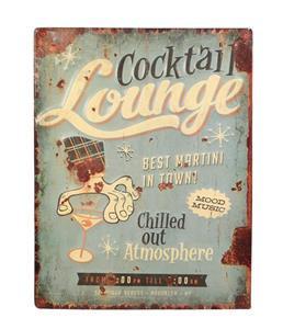 Cocktail Lounge - Metal Plaque