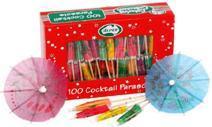 Cocktail Parasols box of 100