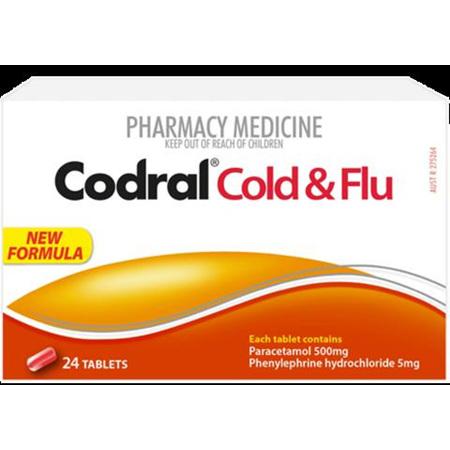 CODRAL COLD & FLU CODEINE FREE 24 TABS