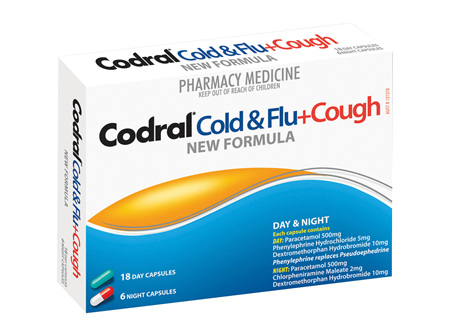 CODRAL COLD & FLU + COUGH Cap 24