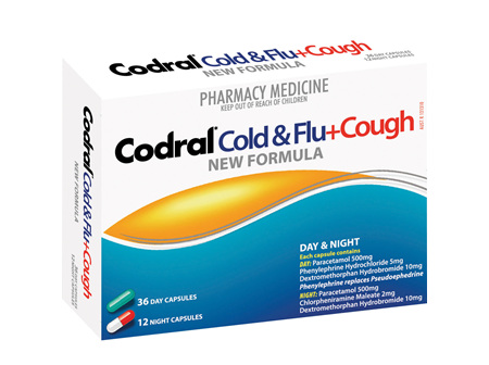 CODRAL COLD & FLU + COUGH Cap 48