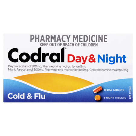 Codral Cold & Flu Day & Night Tablets 24 Pack