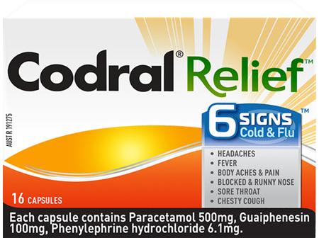 CODRAL Cold/Flu +Mucus Cough 16caps