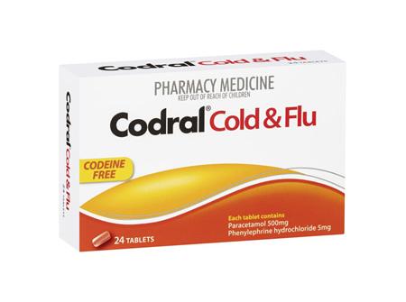 CODRAL PE COLD & FLU CODEINE FREE 24'S