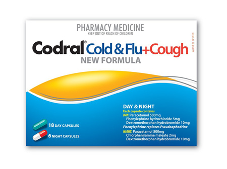 CODRAL PE Cough/Cold/Flu D/N Cap 24