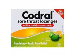 CODRAL Sore Throat Loz Lime/Lem 36