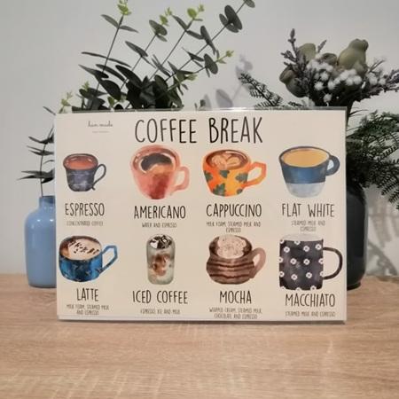 Coffee Break A4 Print - Framed