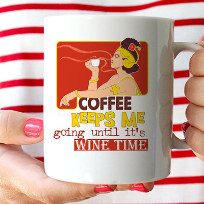Coffee Wine Time Mug