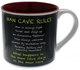 Coffee Mug - Man Cave Rules