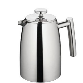 Coffee Plunger 1 Litre - Twin Wall Stainless Steel
