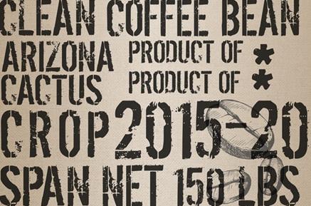 Coffee Sack Royce Decoupage Paper